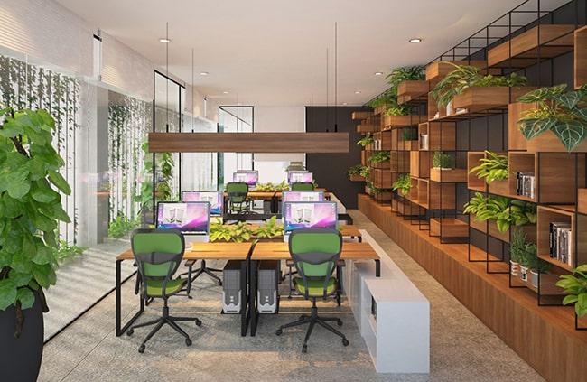 5 bước cơ bản tạo ra một mẫu thiết kế văn phòng xanh